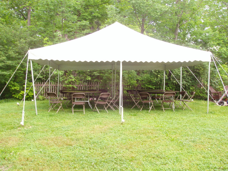 20' x 20' White Canopy Tent