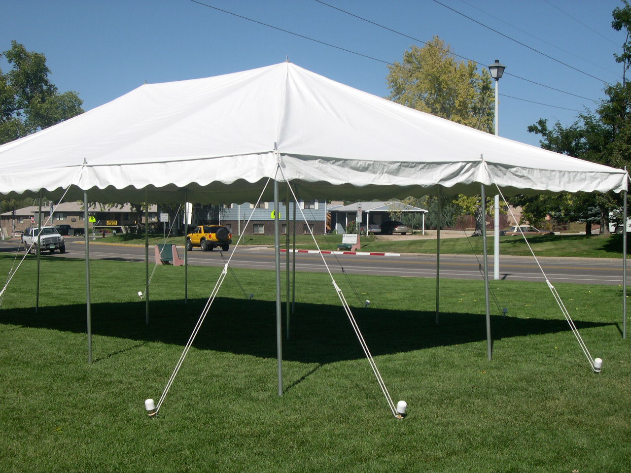 20' x 30' White Canopy Tent