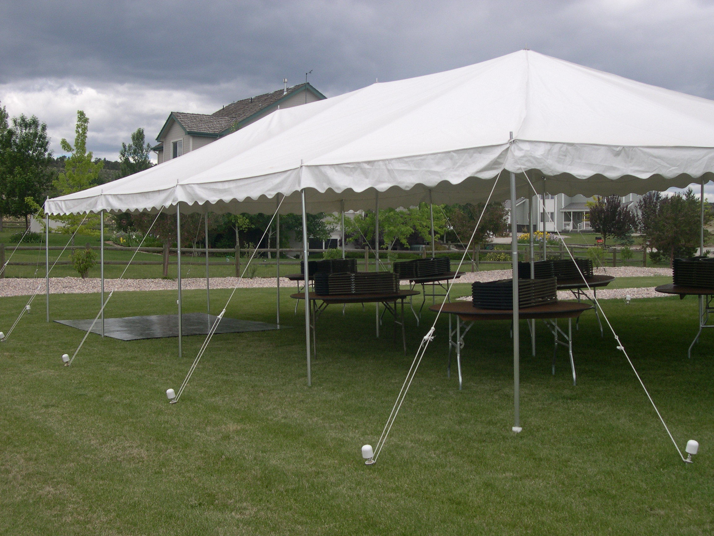 20' x 40' White Canopy Tent