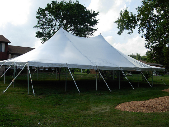 30' x 50' White Canopy Tent