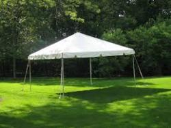 10'x10' White Frame Tent