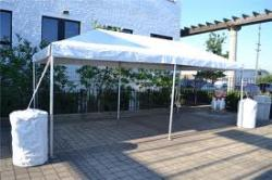 10'x20' White Frame Tent