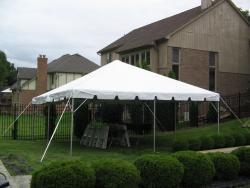 20'x20' White Frame Tent