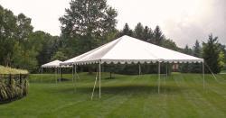 30'x30' White Frame Tent