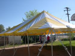 30' x 30' Yellow & White Canopy Tent