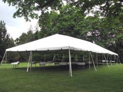 30' x 80' White Frame Tent